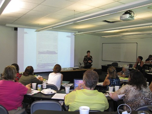 Pat Howey teaching a session at the 2011 Institute of Special Education Advocacy at William & Mary Law