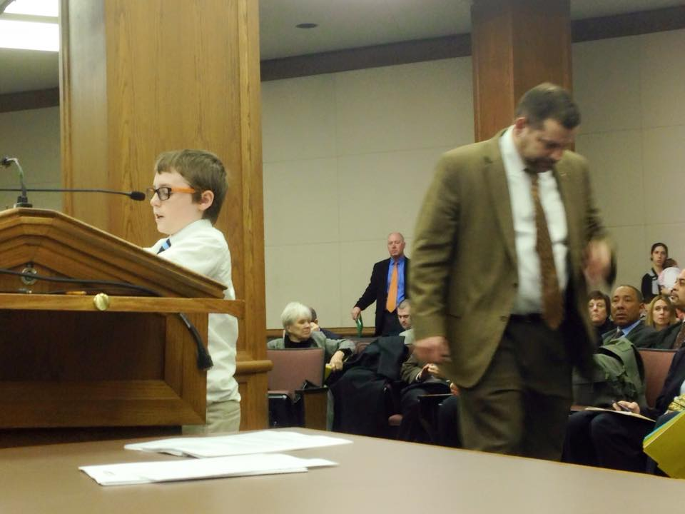 Arc of VA photograph of Alex testifying for HB1443