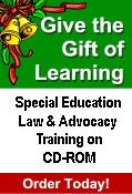 Webex Christmas ad Special Education Law and Advocacy Training on CD-ROM