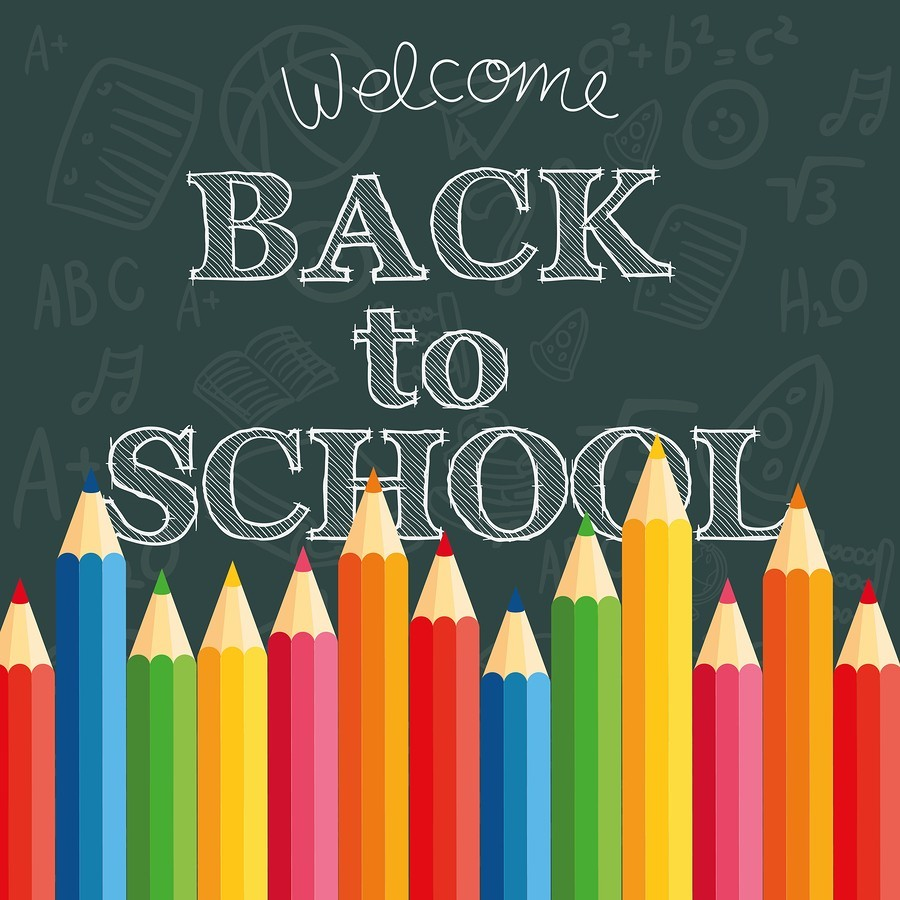 Back to School sign with pencils