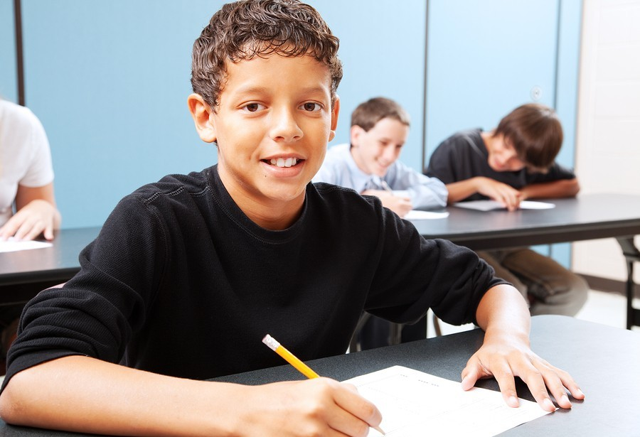 image of boy student in class