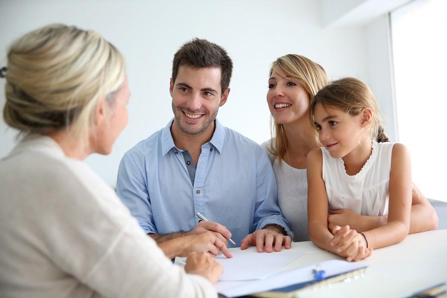 parents meeting with school admin