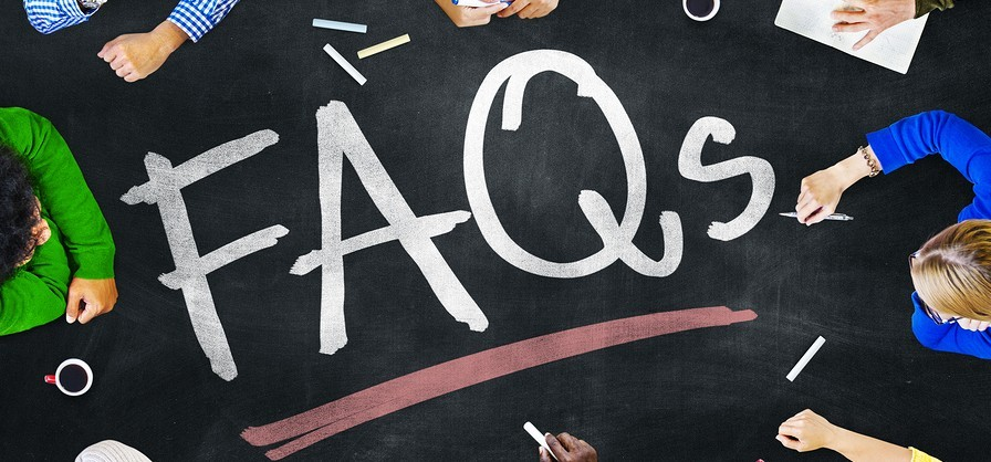 image of FAQs sign, frequently asked questions