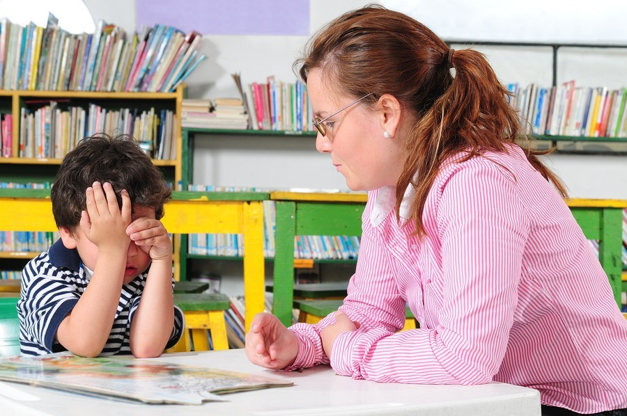 Preschooler and therapist