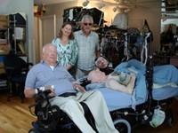 Fred Fay with Elmer Bartels, Alison Gilkey
