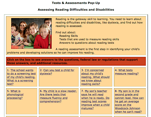 image of tests and assessments pop up