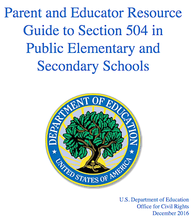 A Parents Guide To Section 504 In >> A Parents Guide To Section 504 In Public Schools Oukas Info