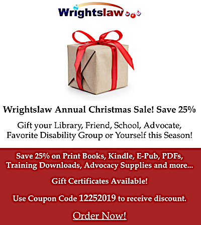 image of Wrightslaw Annual Christmas Sale 25% off