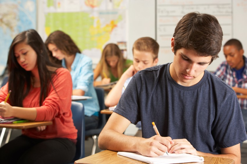 Teen students in class