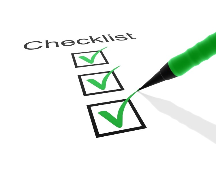 image of checks and checklist