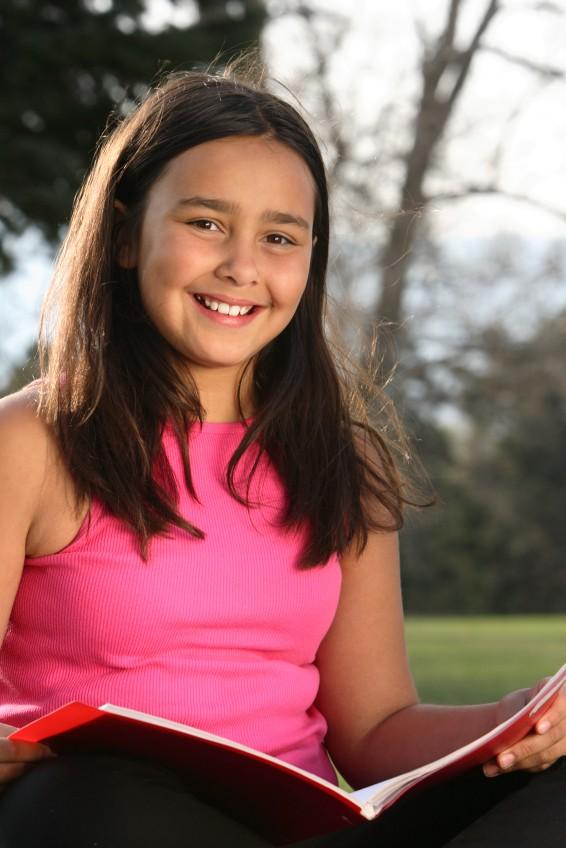 Young girl outside