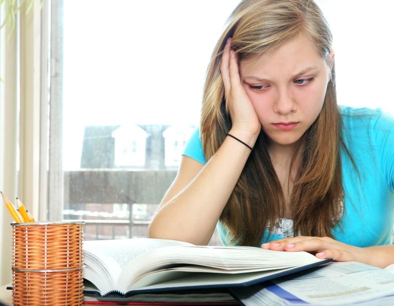 boy appears upset when struggling in school