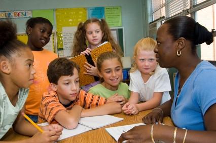 teacher and kids in class