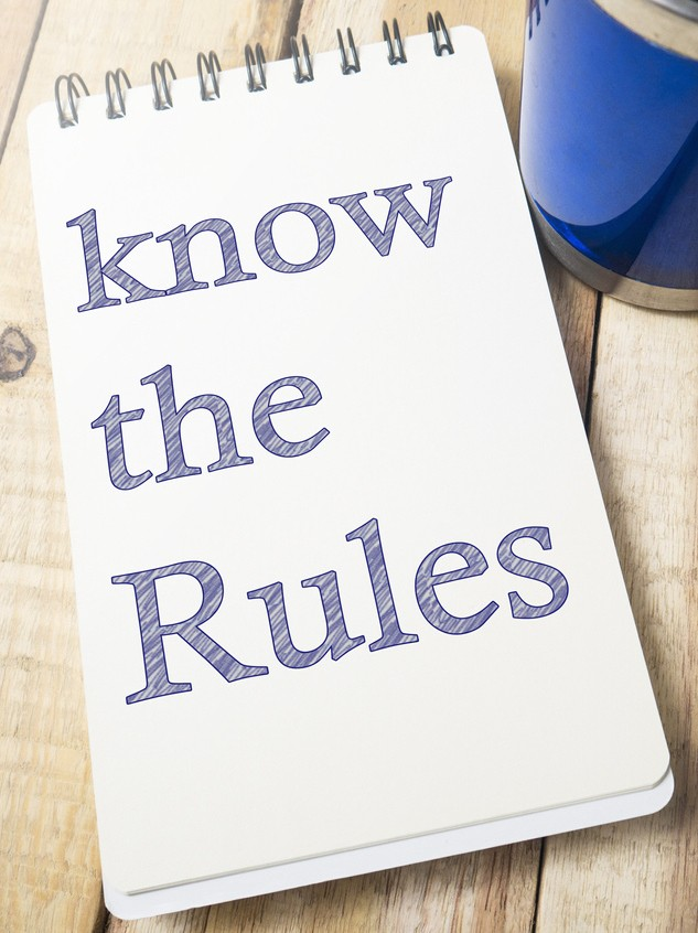 image of women note saying know the rules