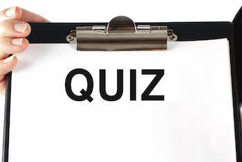 picture of a page called Quiz