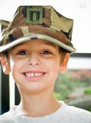 Boy with military cap