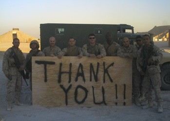 thank you from troops