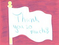 Thank you card from New Hope Middle School