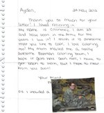 Thank you letter with picture from soldier