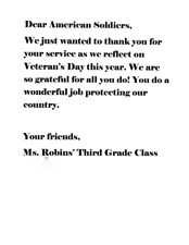 Be a hero a hero support our troops wrightslaw thank you letters from ms robins third grade class thecheapjerseys Choice Image