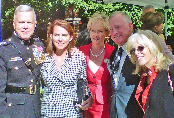 Donna Anders and Pete and Pam Wright with Commandant of USMC General and Mrs. James F. Amos at his Passage of Command ceremony
