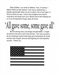 Be a hero a hero support our troops wrightslaw thank you letter to an american soldier spiritdancerdesigns Gallery