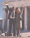 Pete Wright and Shannon Carter at the US Supreme Court
