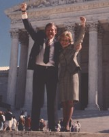Pete Wright & Shannon Carter in front of U.S. Supreme Court