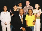 Sec of Education Rod Paige with group in children in Atlanta