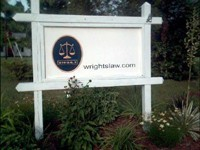 Sign in front of Wrightslaw building