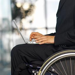 Employee in wheelchair