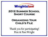2011 Summer School Short Course Certificate