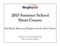 Wrightslaw 2015 Summer School Short Course