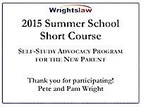 Wrightslaw 2015 Summer School Certificate