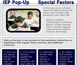 IEP Pop-Up Special Factors in the IEP