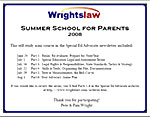 Summer School for Parents Certificate