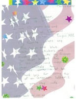 Letter to an American soldier from girl scout