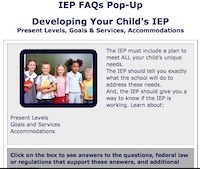 Wrightslaw IEP Pop-Up Developing Your Child's IEP