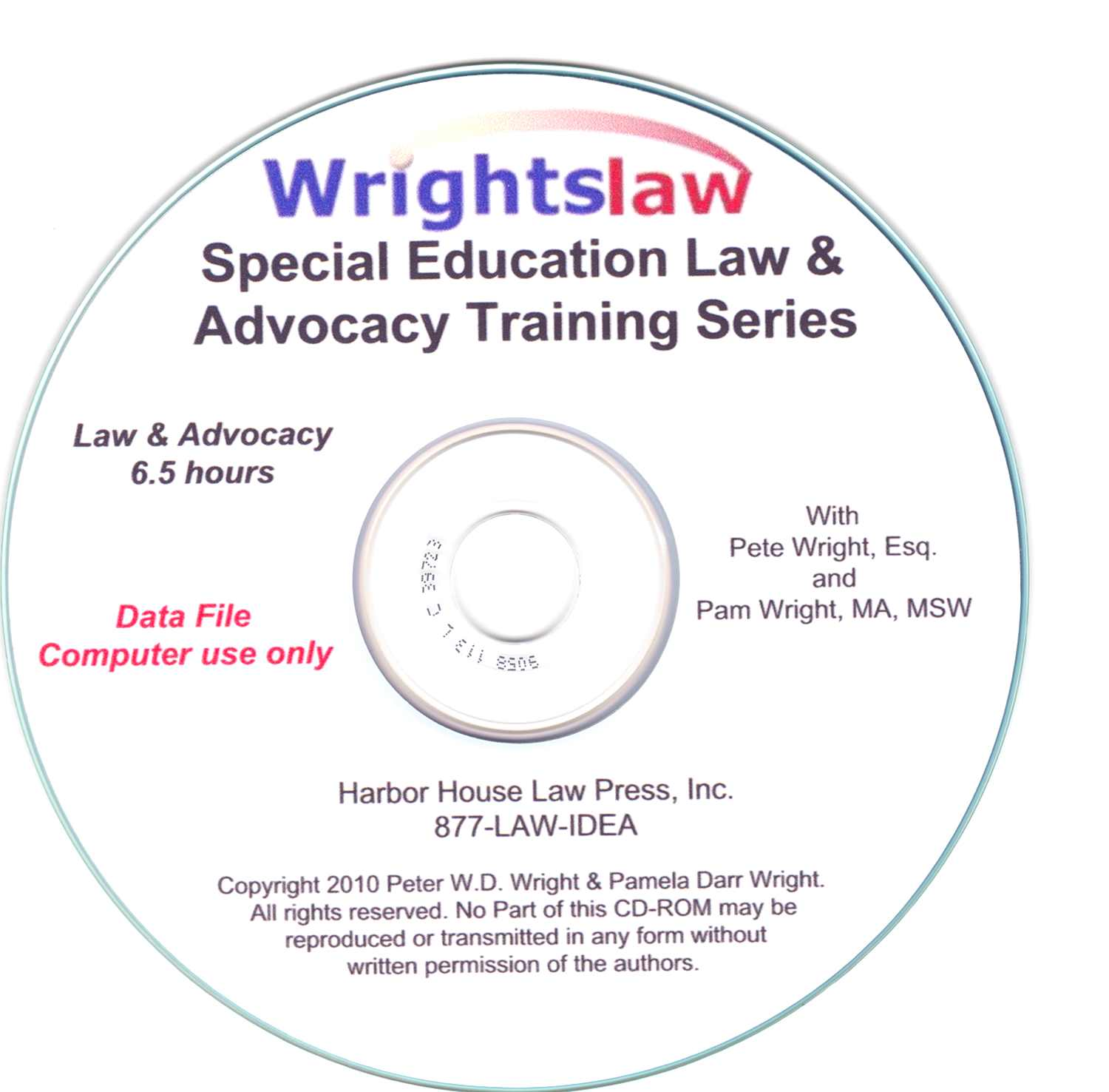 Special Education Law and Advocacy Training CD-ROM