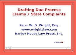 Writing Due Process Complaint Letters and State Complaint