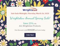 Spring IEP Season Sale