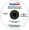 Wrightslaw Special Education Law and Advocacy Training on CD-ROM